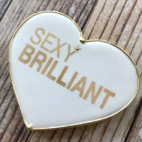 SEXY BRILLIANT WHITE/GOLD HEART COOKIE