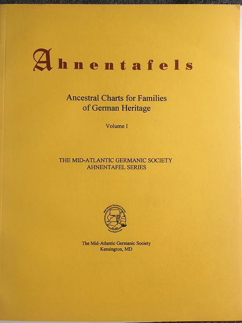 Ahnentafels: Ancestral Charts for Families of German Heritage