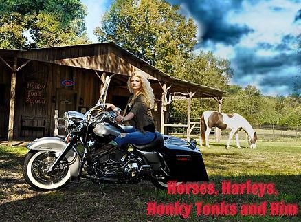 new music single hot blonde jennifer nettles mary katherine williams horses harleys honky tonk him cowboy bad ass motorcycle open saloon