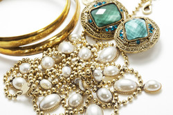 a collection of vintage jewelry