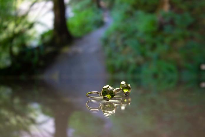 Ohrhänger 585 Gelbgold mit Peridot