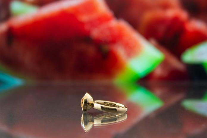 Ring 585 Roségold mit Wassermelonen-Turmalin