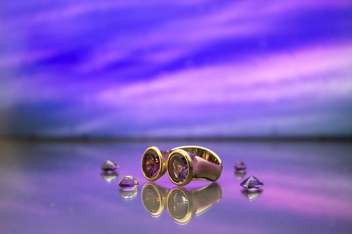 Ring 585 Roségold mit Amethyst