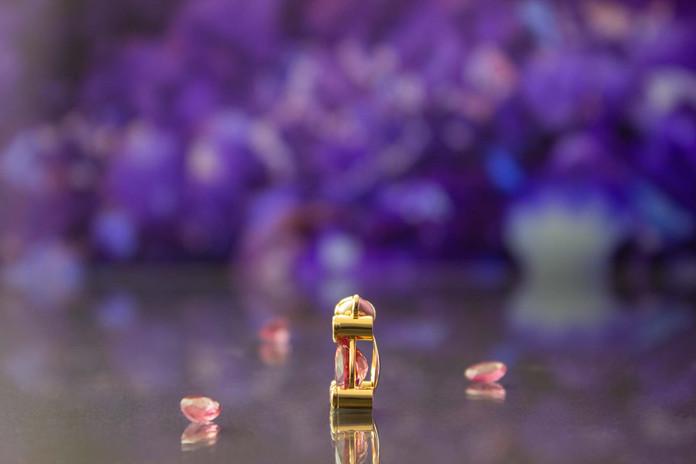 Anhänger 750 Gelbgold mit Pink-Turmalin und Brillanten
