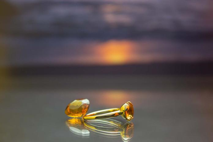 Ring 585 Gelbgold mit Citrin