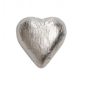 Silver Foiled Hearts Chocolate