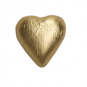 Solid Gold Hearts Chocolate