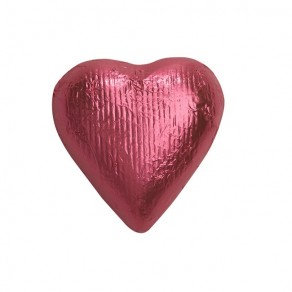Bright Pink Foiled Hearts Chocolate