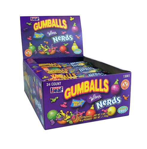 Nerds Filled - Gumballs 5-Ball Tube Display Box