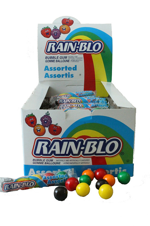 Rain-Blo Asstd 5-Ball Tube Display Box