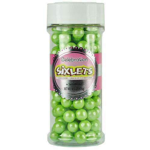 Shimmer Sixlets Jars - Lime Green