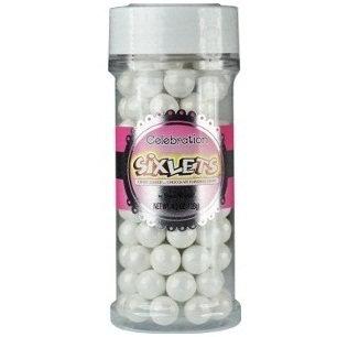 Shimmer Sixlets Jars - White