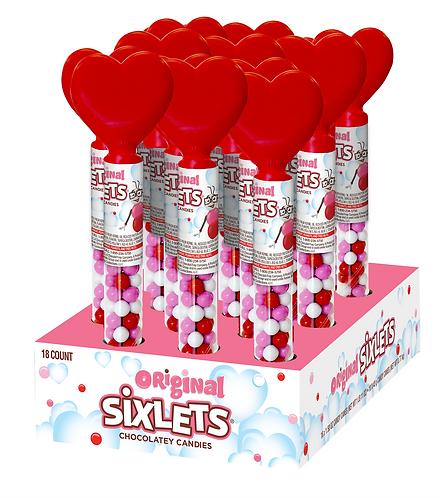 Sixlets Heart Tubes
