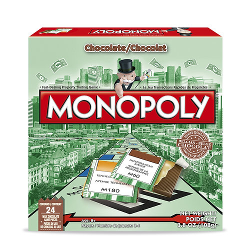 Monopoly Chocolate Game board