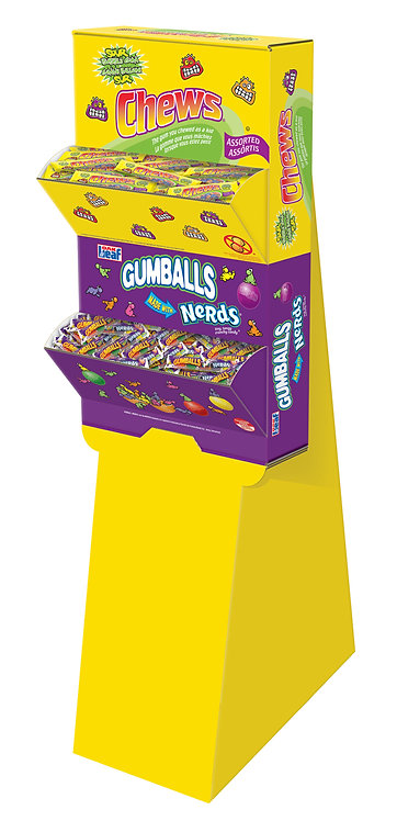 Chews Count Good & Nerds 5-Ball Tube Floorstand (96 units in total)