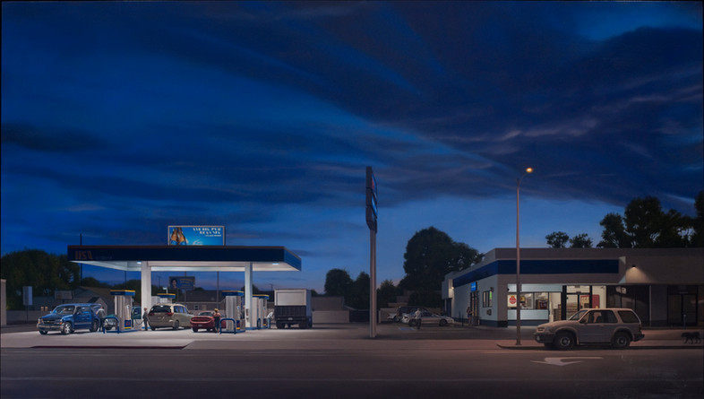 14114 Vanowen Street 42x74 oil on polyester over aluminum 2013