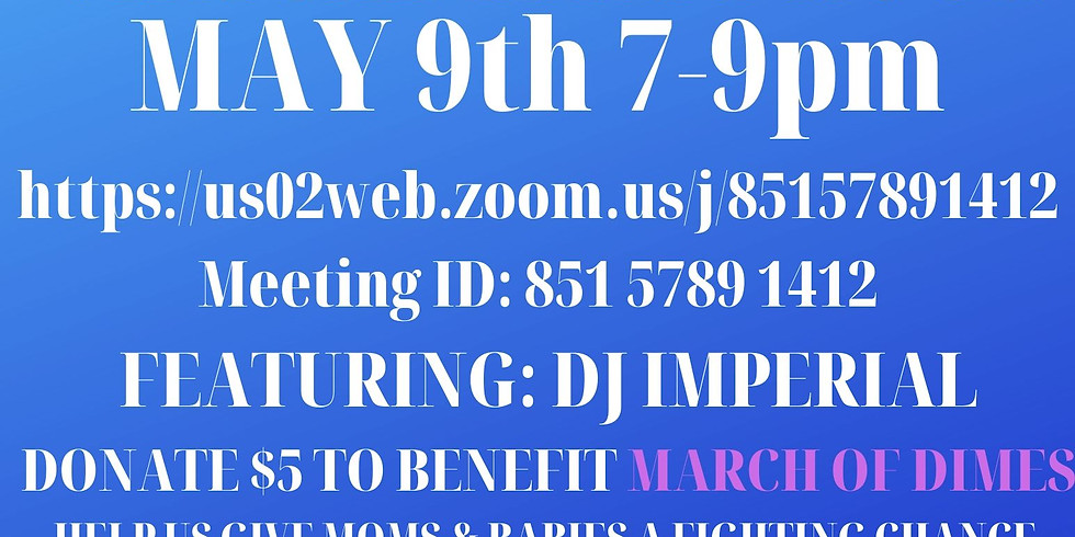 Socialize and Sip Zoom Happy Hour, featuring DJ Imperial