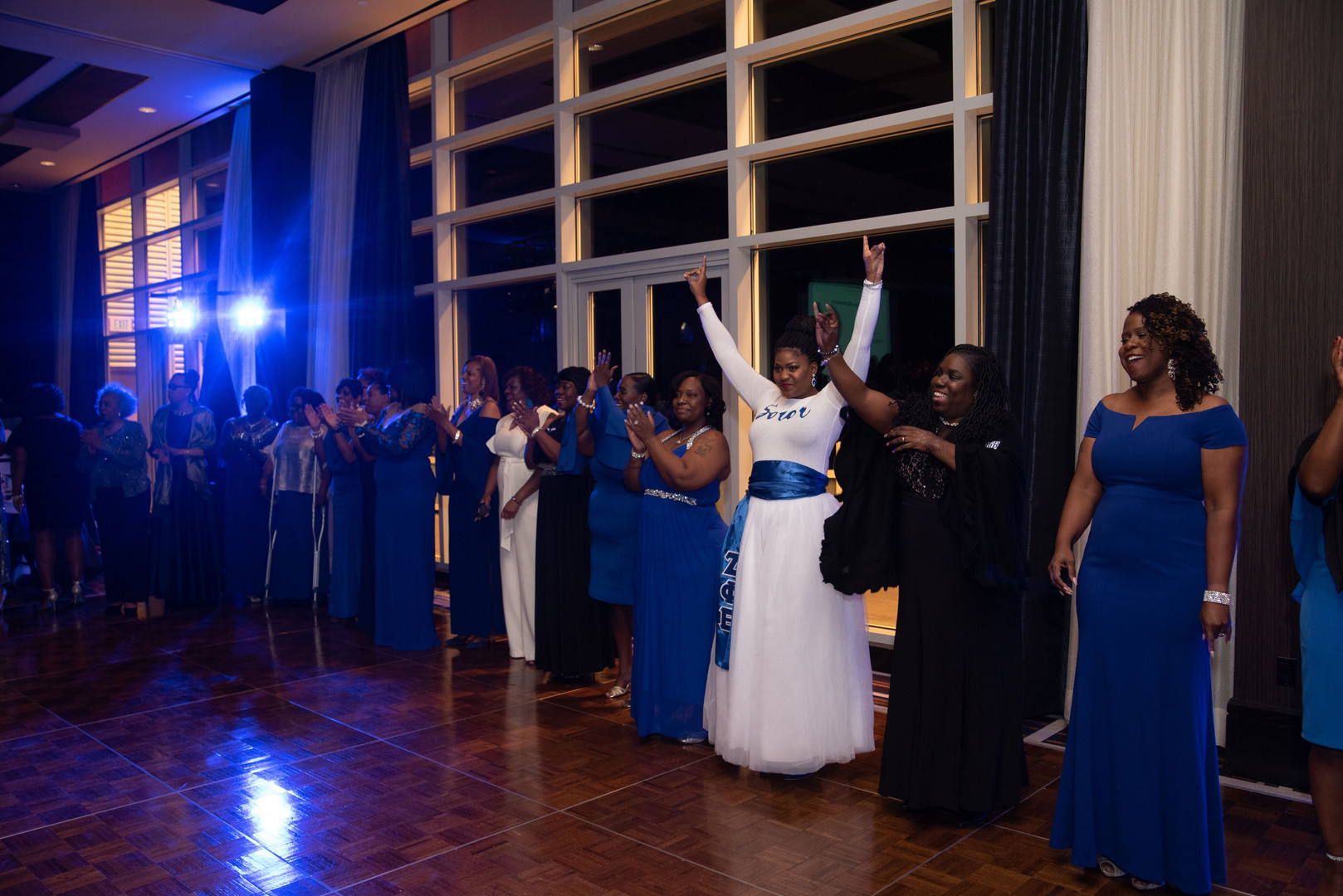 Sorors attending the 75th Anniversary Gala