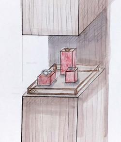 Schaufensterentwurf Bucherer Detail