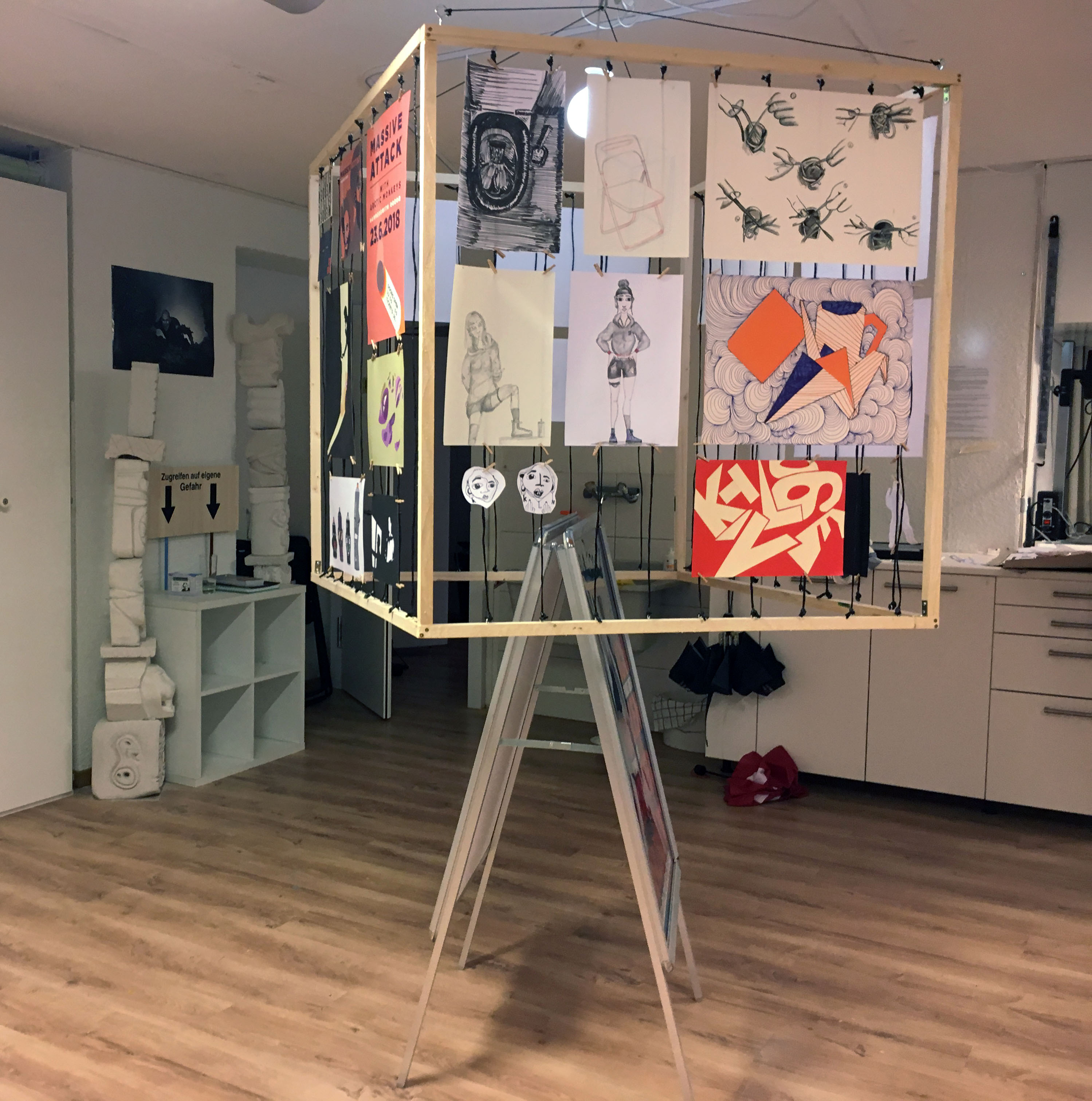 Vorbereitungen Abschlussausstellung 3