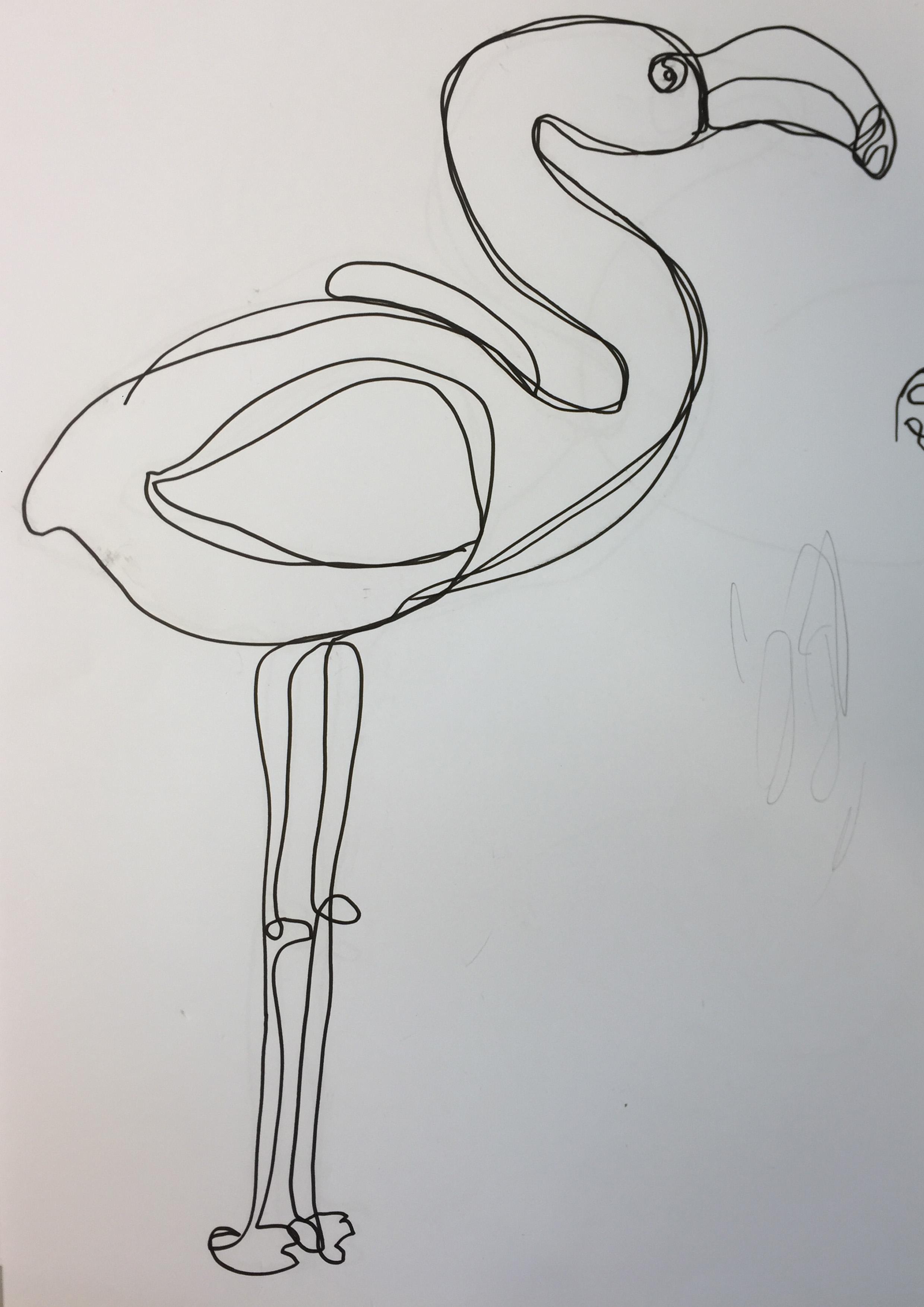 Drahtfigur von Viviane Frauchiger