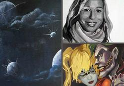 Verschiedenste Acrylmalereien