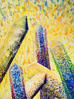 Pointillismus Studie