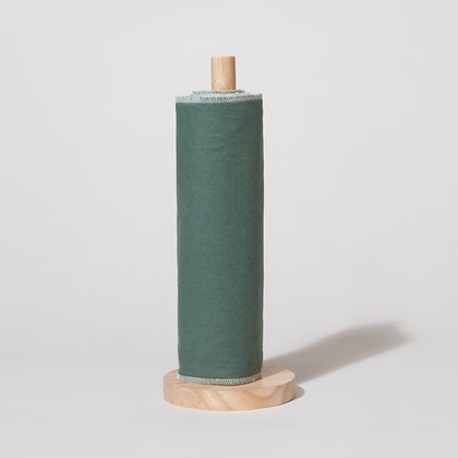 Reusable kitchen roll. 6 sheets in moss green