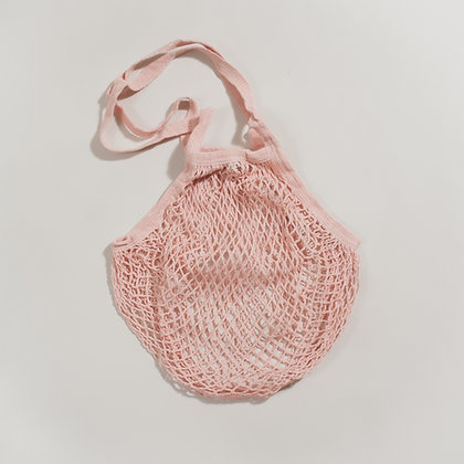 Organic Cotton String Shopping Bag- Blush
