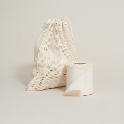 Organic Cotton Washable Toilet Roll