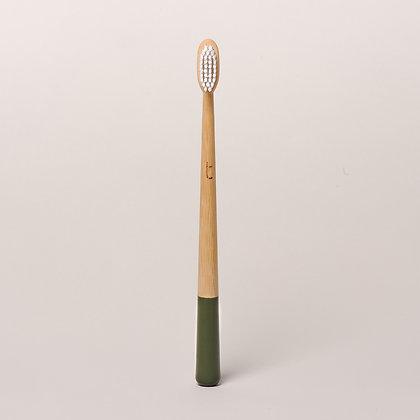 Truthbrush Bamboo Toothbrush- Moss Green