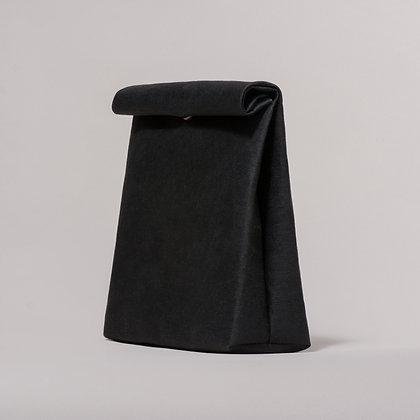 Black vegan leather sandwich bag