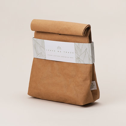 Vegan Leather Lunch Bag- Brown