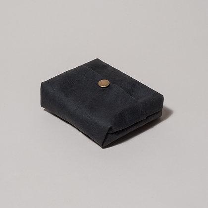 Vegan Leather Hankie Pouch- Black