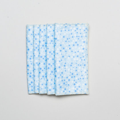 5 x reusable baby wipes- Star print