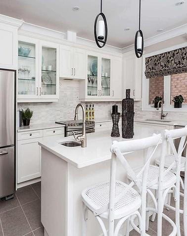 Summit Shaker White Kitchen Cabinets