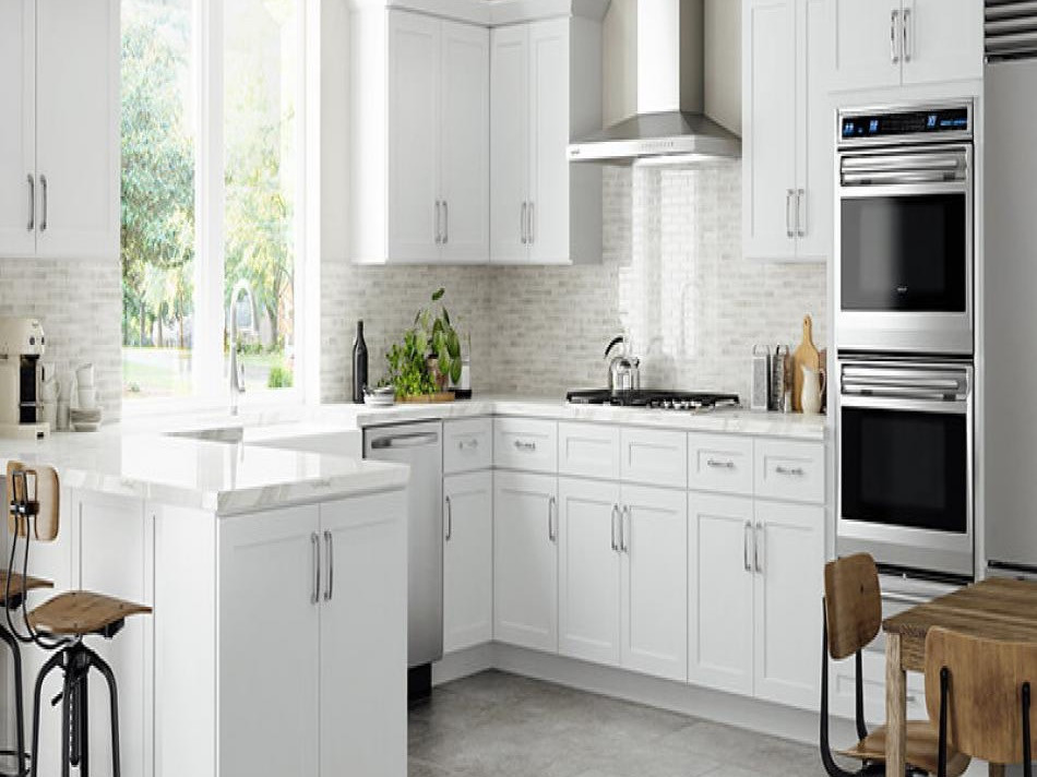 Summit Shaker White Kitchen Cabinets 2_e