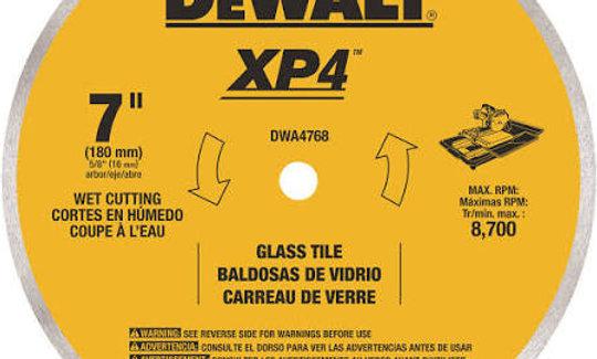 """DEWALT DWA4768 7"""" Continuous Rim Glass Tile Blade"""