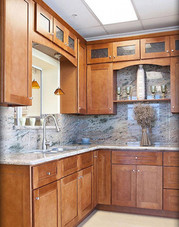 shaker cinnamon cabinets