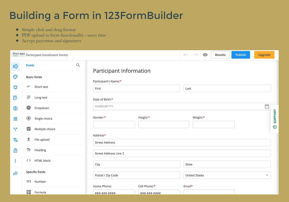 123form builder wix website
