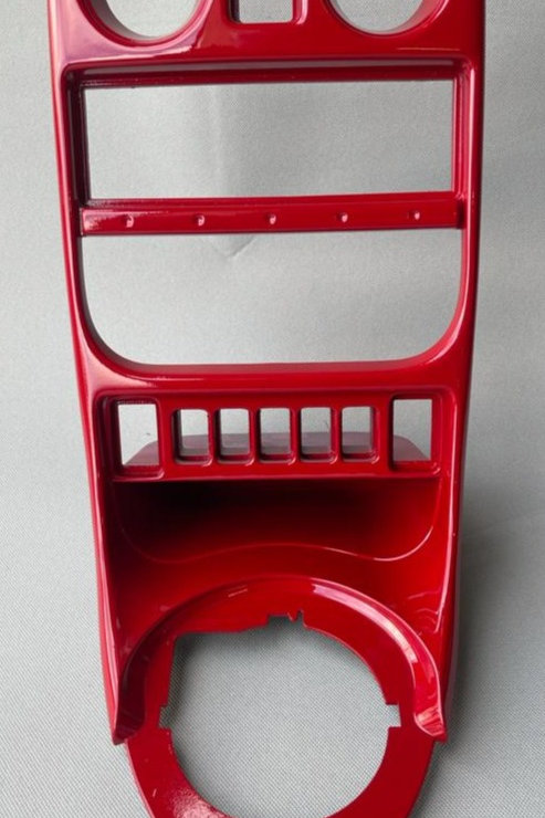 MGF/MGTF Solar Red Centre Console Fascia Panel,