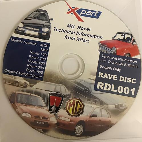 Rave Technical Data Disc Multiple vehicles