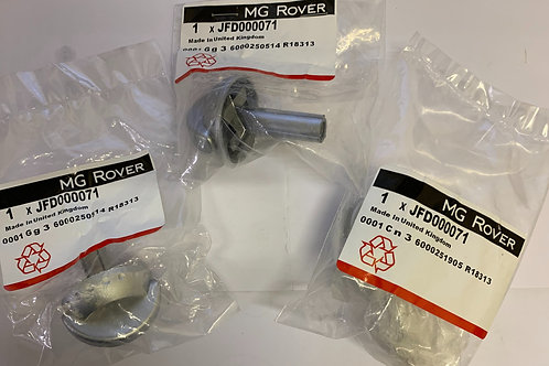 MGF MK2 / MGTF Set of 3 Silver Heater control knobs