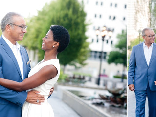 Janelle and Michael~Scioto Mile Downtown Engagement Session