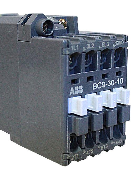CONTACTOR, 3-P N/O, 24VDC, 9A   BC9-30-10