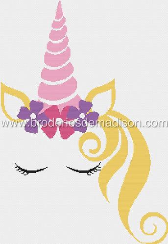 Princess Unicorn - Grille à télécharger
