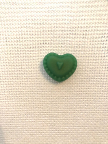Mini Aimant Cœur Vert - Fait Main