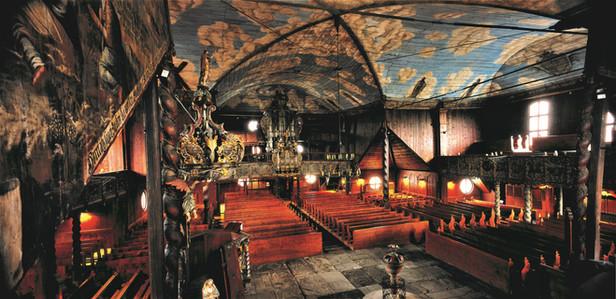 Interiér Dreveného kostola