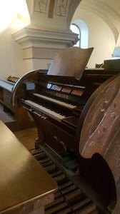 Hrací stôl organu z roku 1936