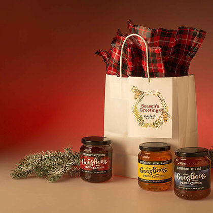 Holiday Honey Care Package - White and Tartan